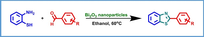 One Pot synthesis of 2-substituted benzothiazoles catalyzed by Bi2O3 nanoparticles