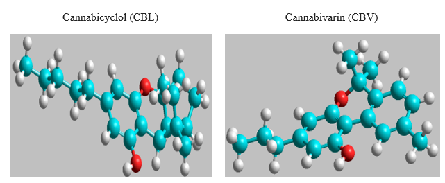 A computational study of thermophysical, HOMO, LUMO, vibrational spectrum and UV-visible spectrum of cannabicyclol (CBL), and cannabigerol (CBG) using DFT