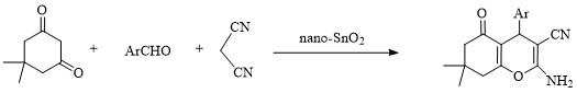 Synthesis of 2-amino-4H-pyran derivatives in aqueous media with nano-SnO2 as recyclable catalyst